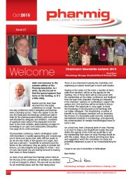 Newsletter No. 61 - October 2015